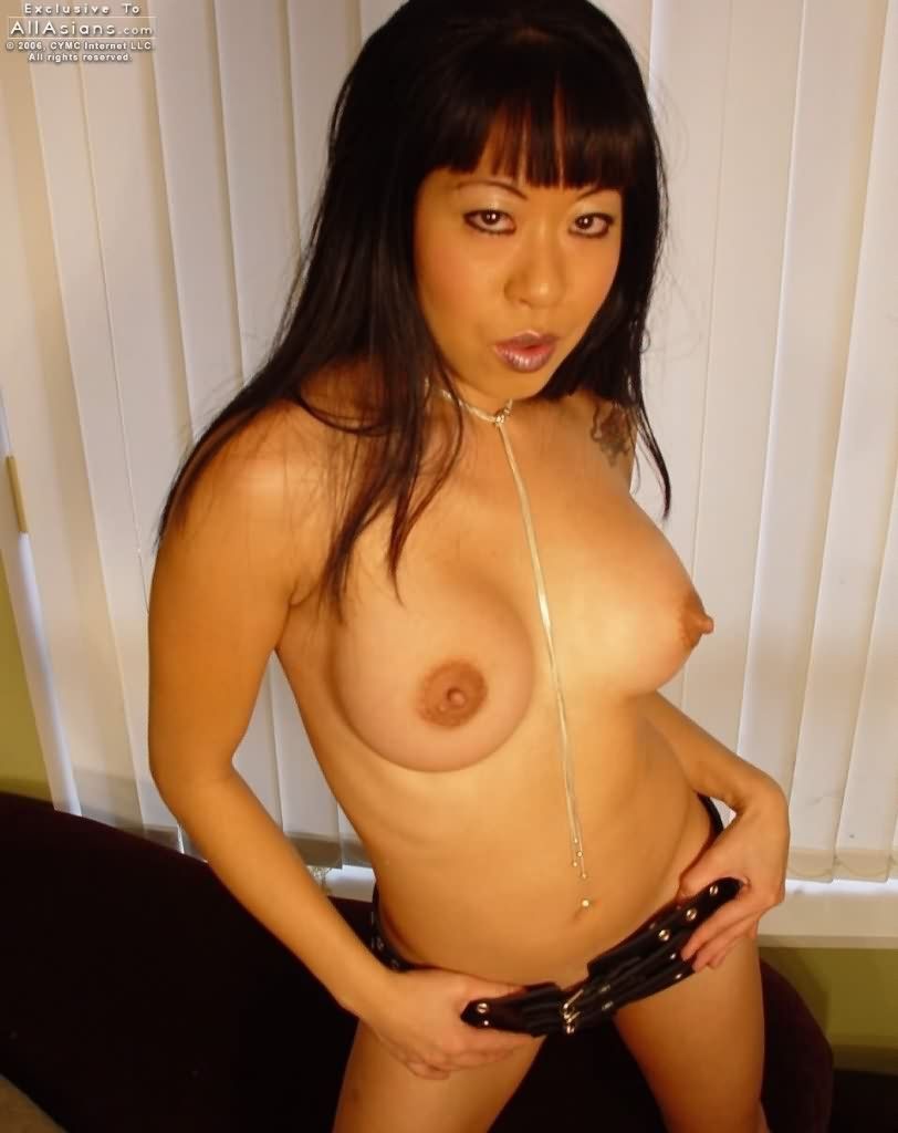 naked asian gal public