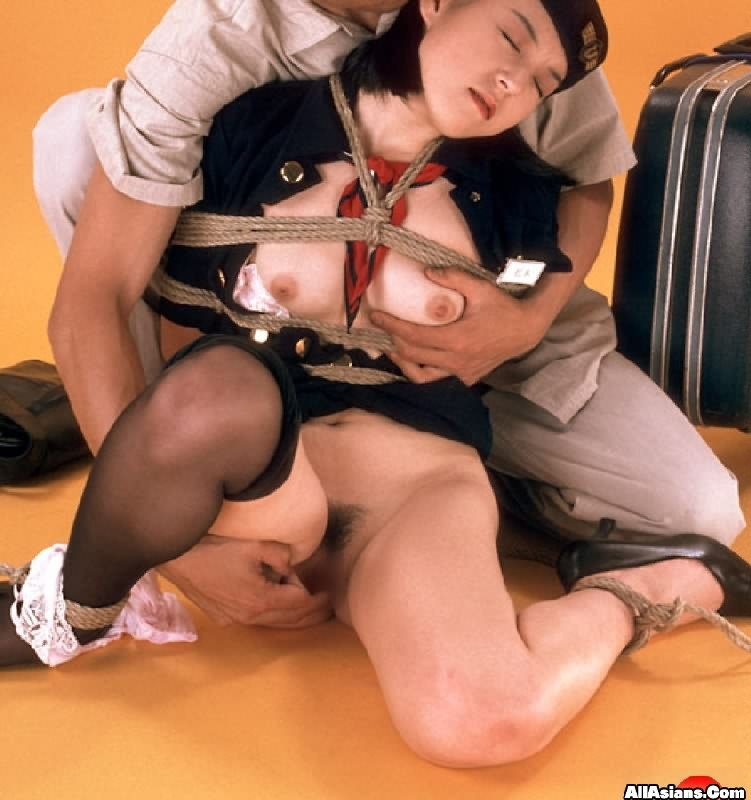 Airline captain fucked his new stewardess 8