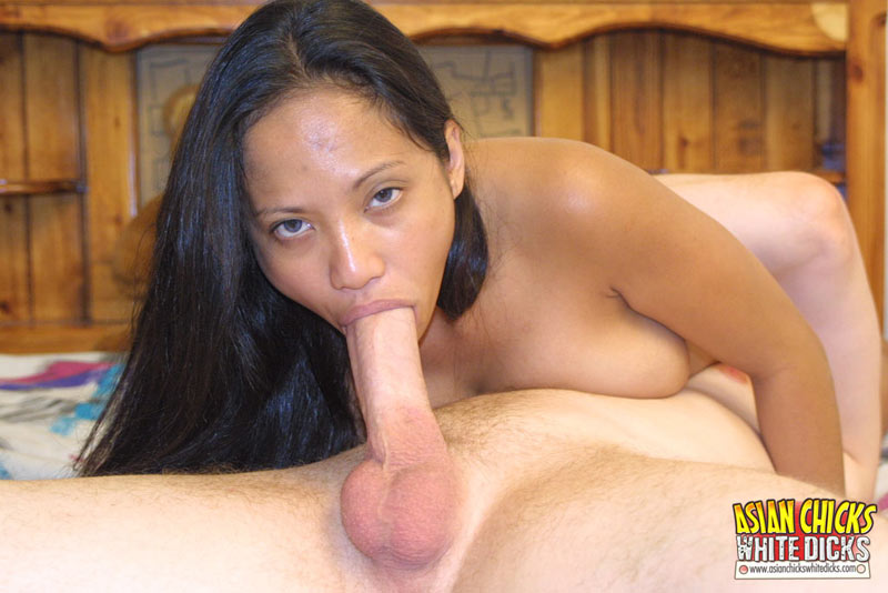 Asian chicks white dicks #3