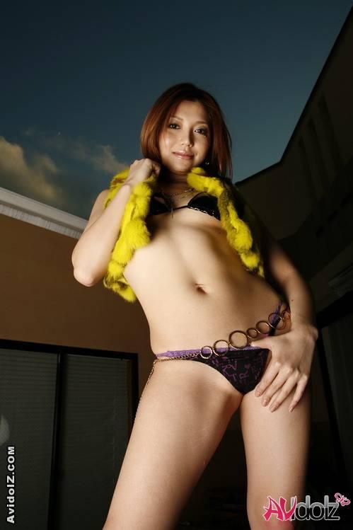 Japanese babe kana kawai in sexy lingerie sucks cock 7