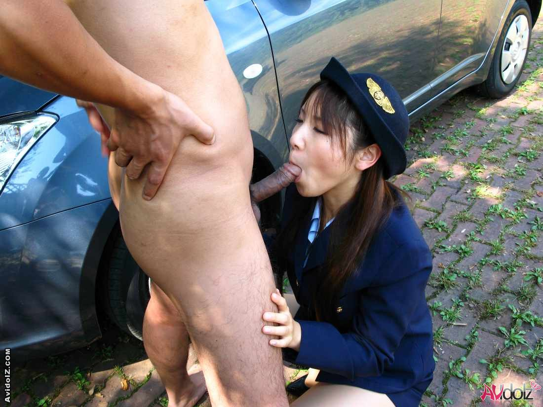 Woman naughty naked police