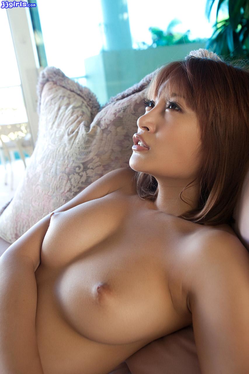 Nude mother on beach