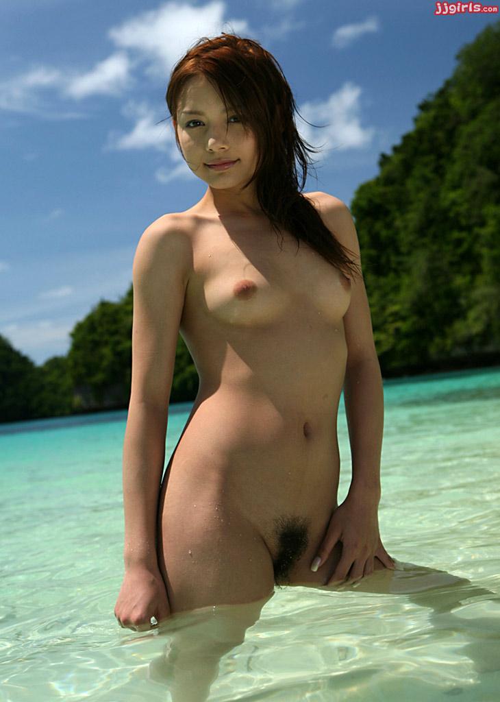 japanese girl half nude