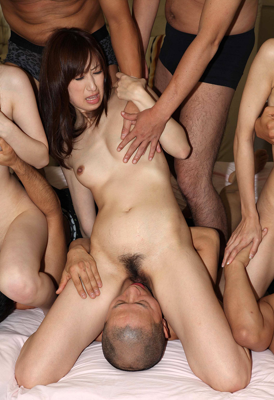 Hot girls gangbang