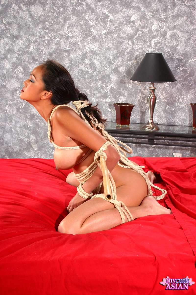 Asian rope bondage and spread fingering 6