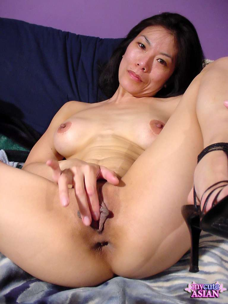 Have Asian girl fingering pussy