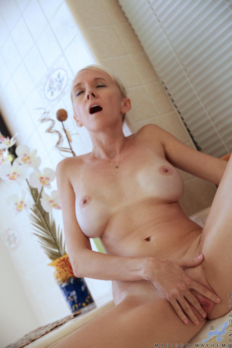 Granny having sex in the shower