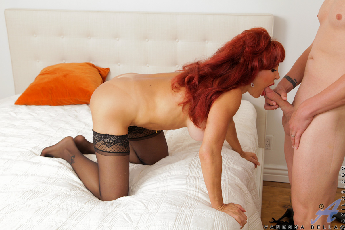 Lovely persia gets banged on her desk by two black cocks 3