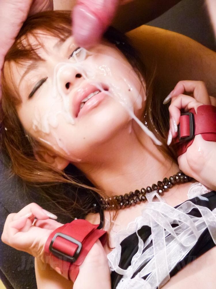 Woman asian cum otngagged