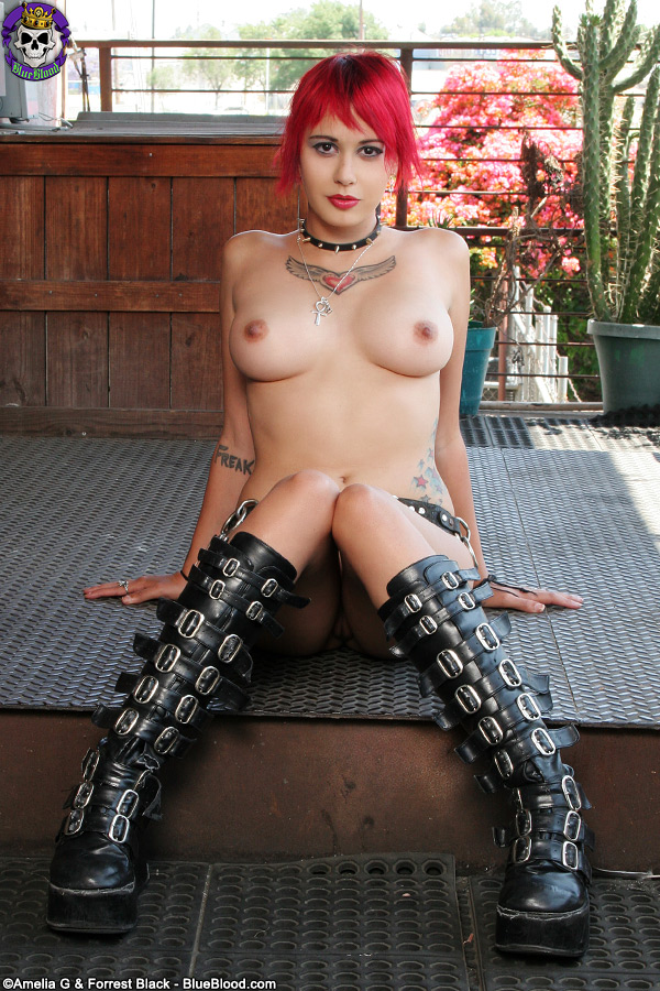 Cock in punk girls pussy