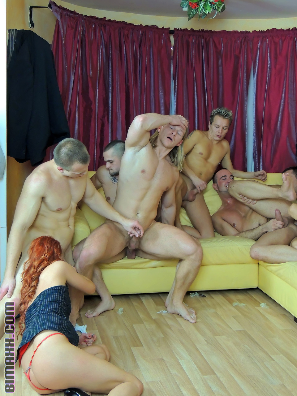 naked bisexual women party