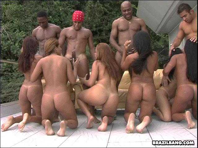 Brazilian gang bangers orgy good
