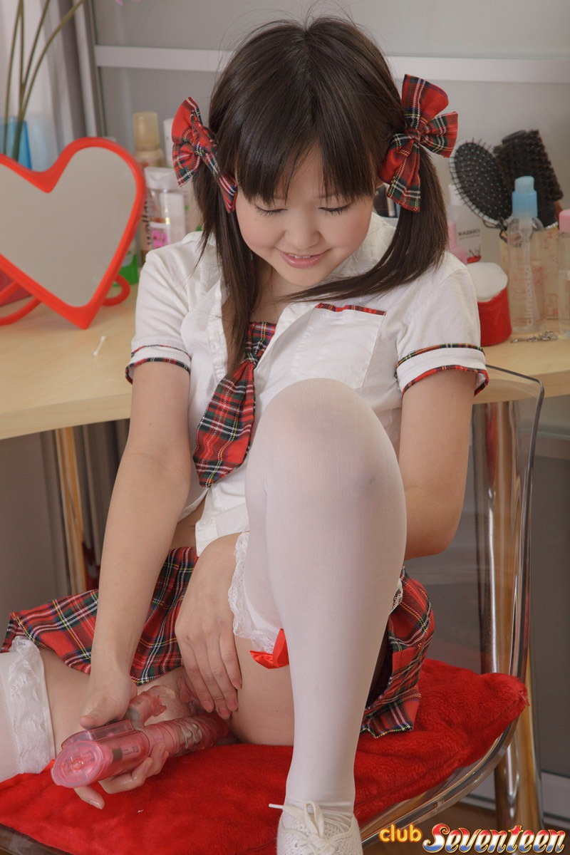 image Innocent asian schoolgirl shows off her naughty side