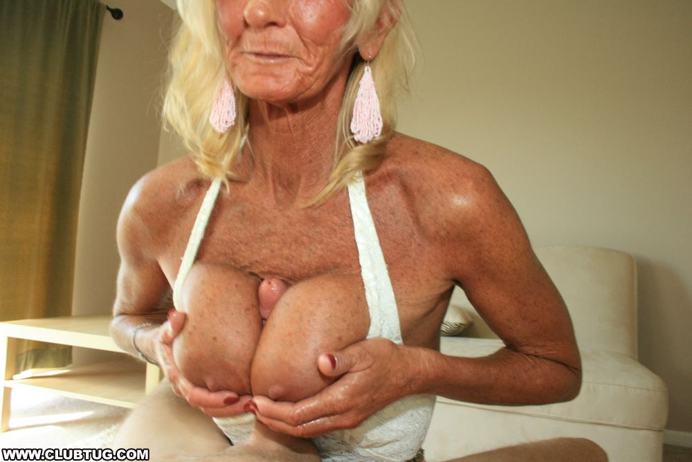 Granny norma has two cocks to play with - 2 10