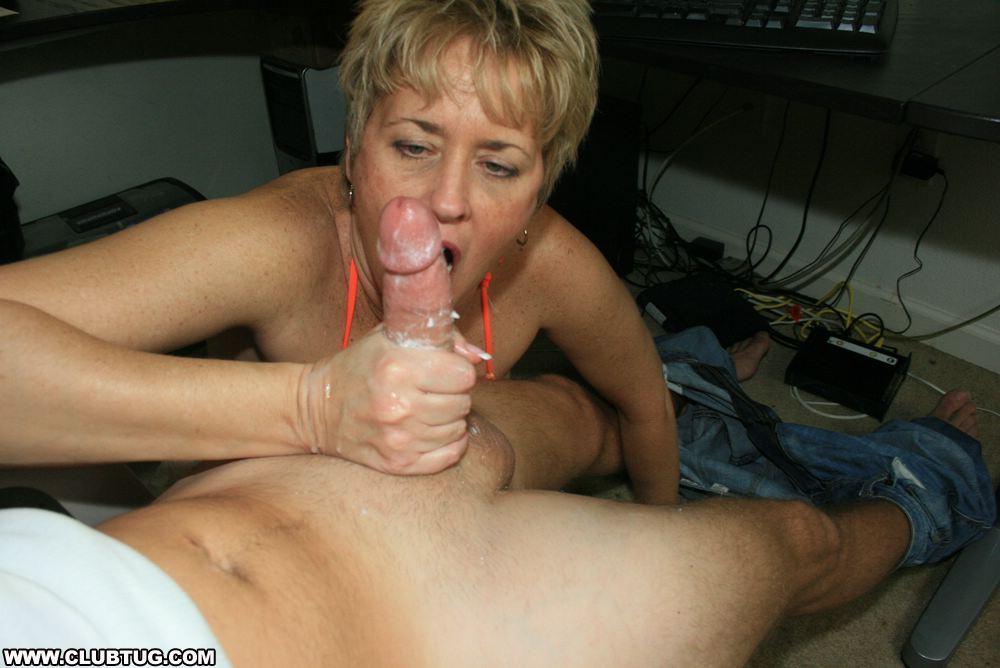 Mature neighbor sucking dick