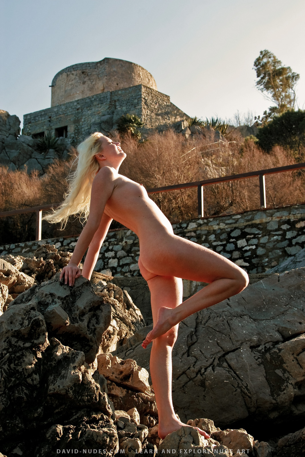 Nude girls tour castle