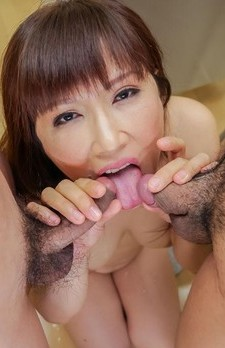 Yuki mizuho enjoys hungry cock down her furry cherry