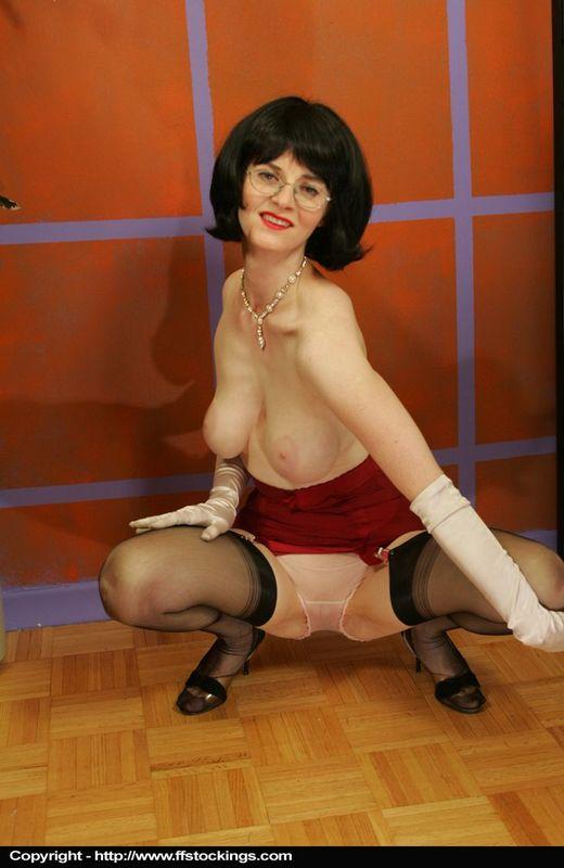 Busty girdles stockings