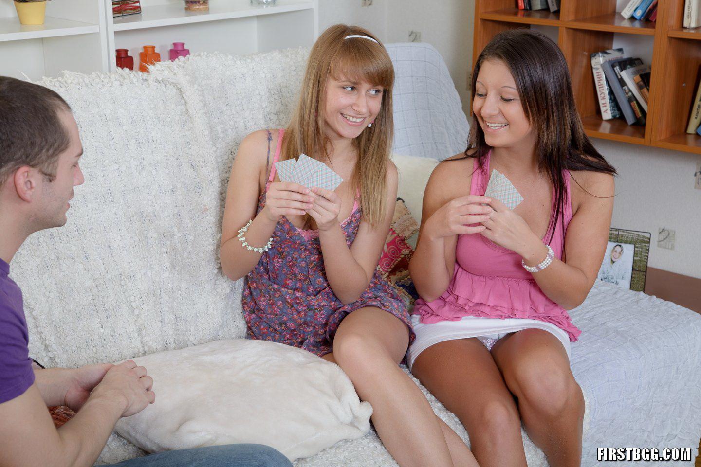 We love having schoolgirl threesomes between class - 2 part 2