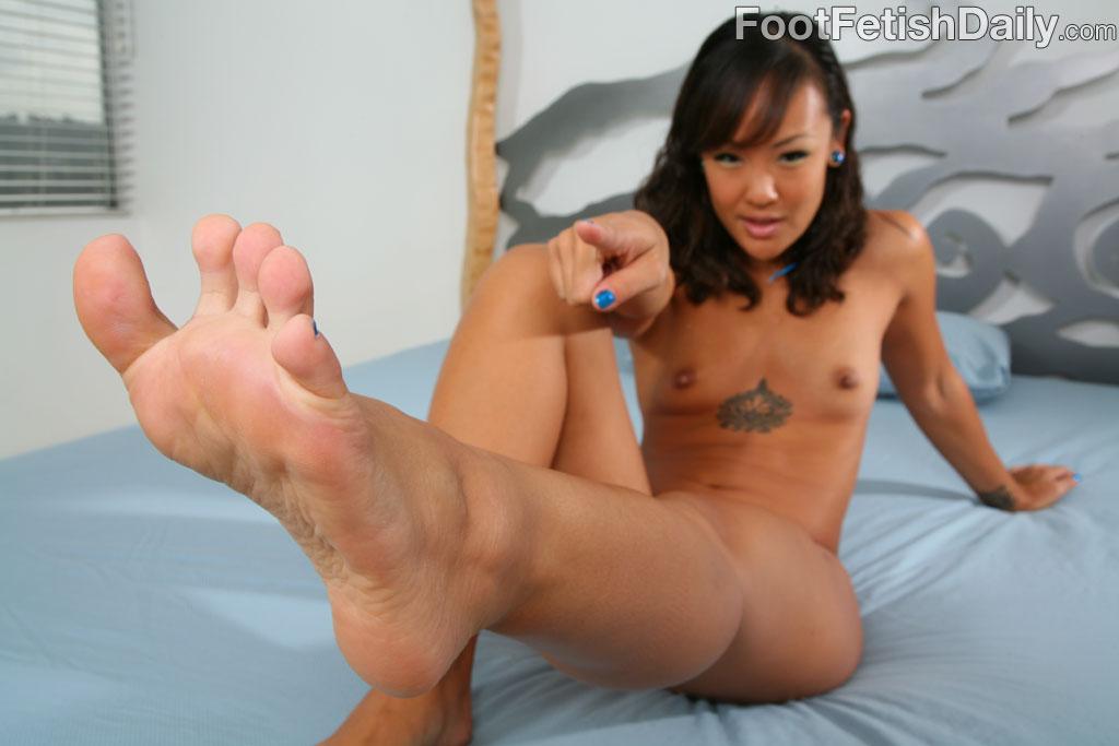 Asian feet fetish pornstar