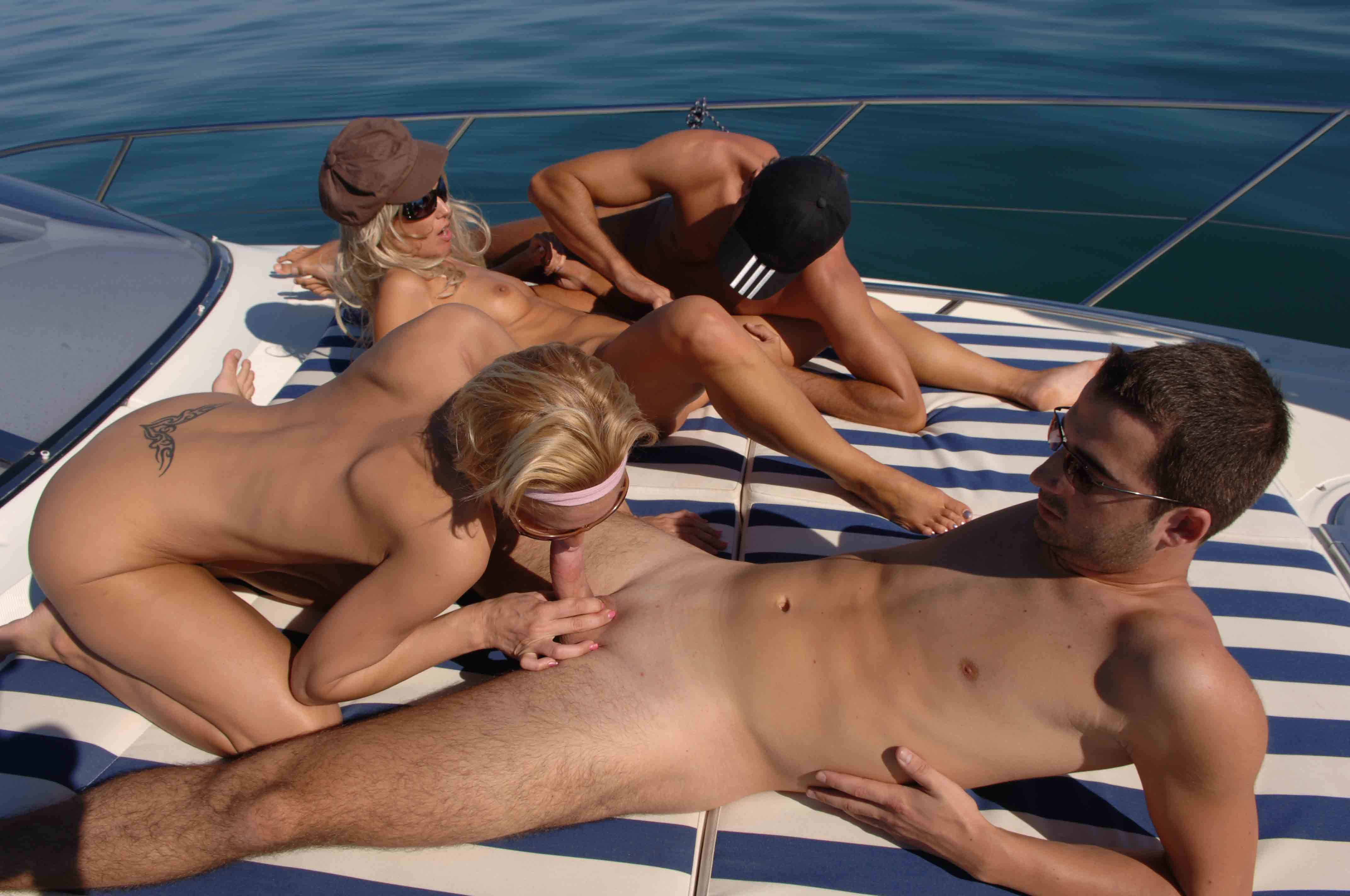 girl fucking on a boat
