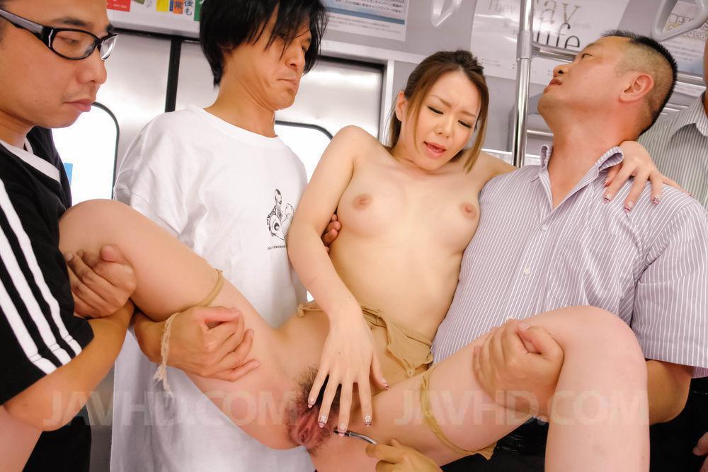 Hikaru momose toys her shaved little pussy