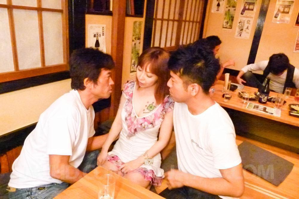 Minami kitagawa foursome ends in an asian cum facial 3