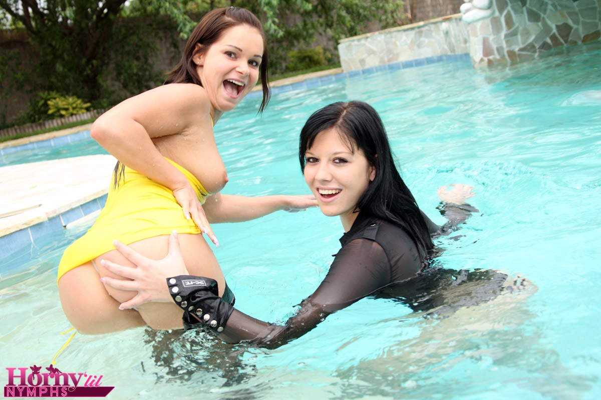 Another reason Three lesbians in pool