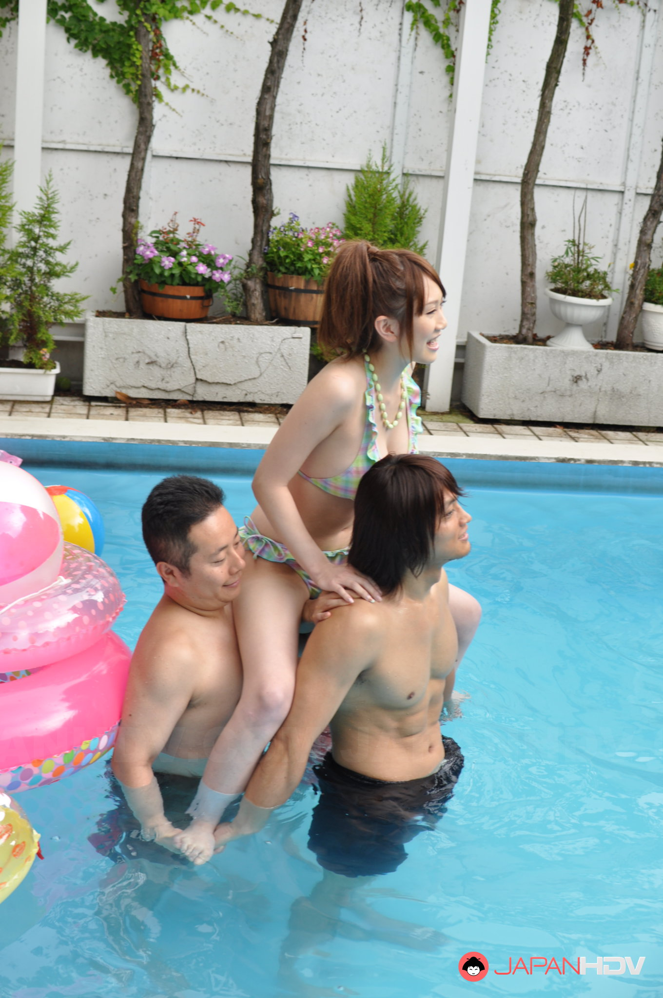 Nude party pool