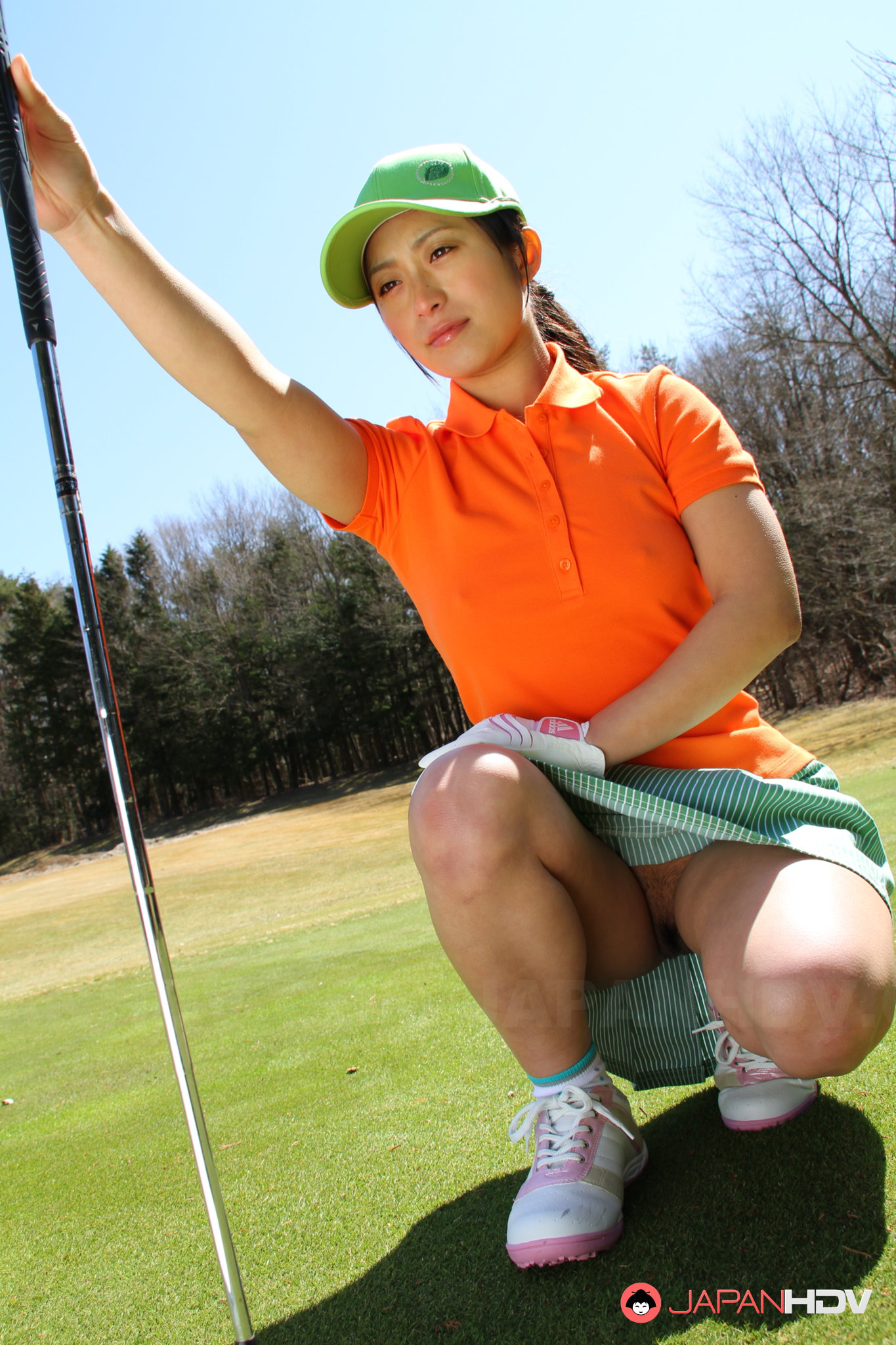asian girls golfing naked