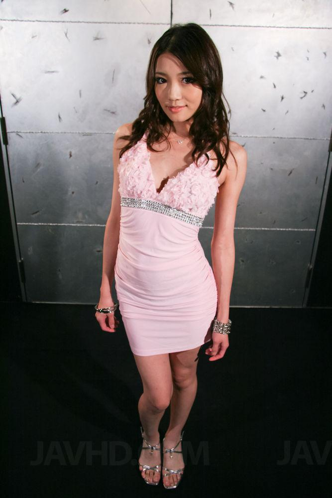 Shaved japanese babe ibuki has her legs spread for guys to f 7