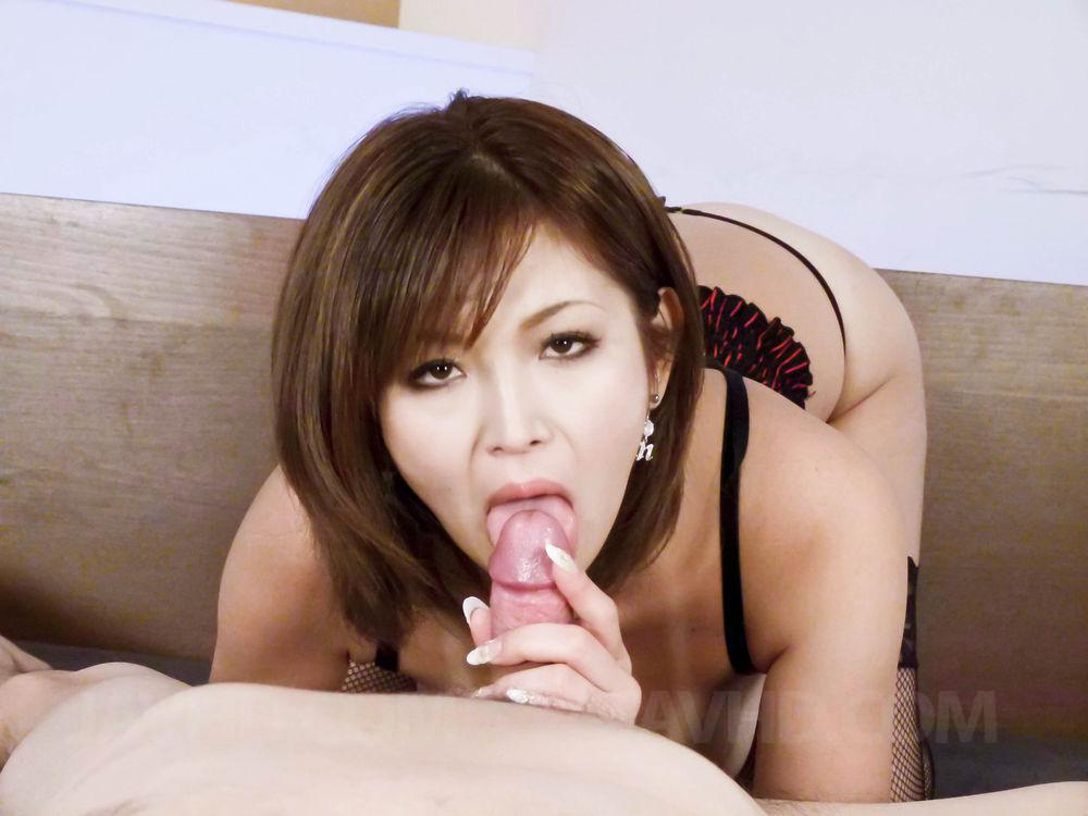 Mai kuroki horny mom deals young dick in her pussy 6