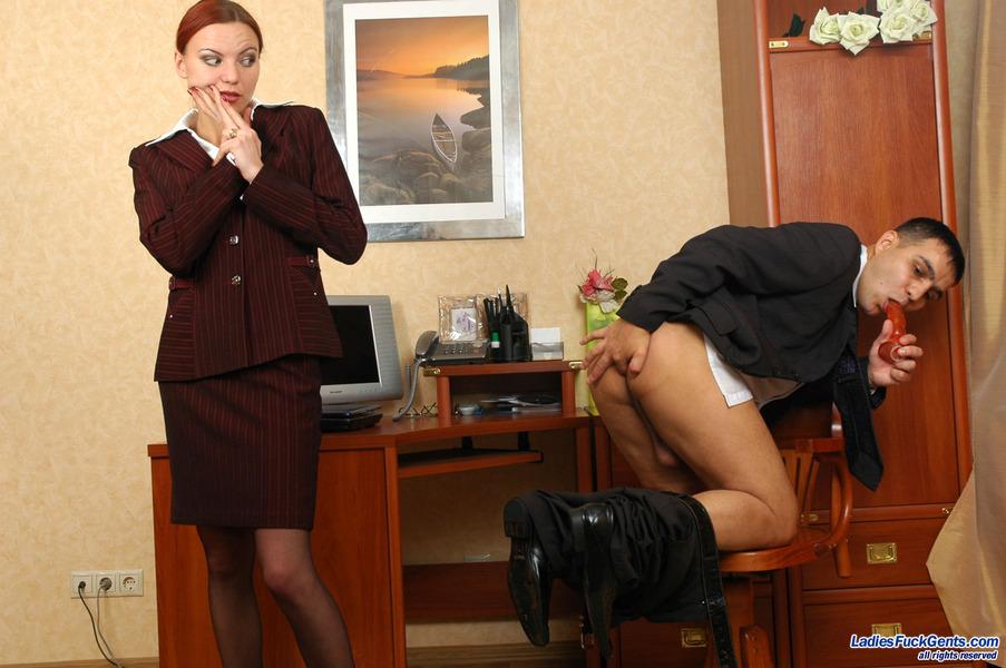 страпон секретарша