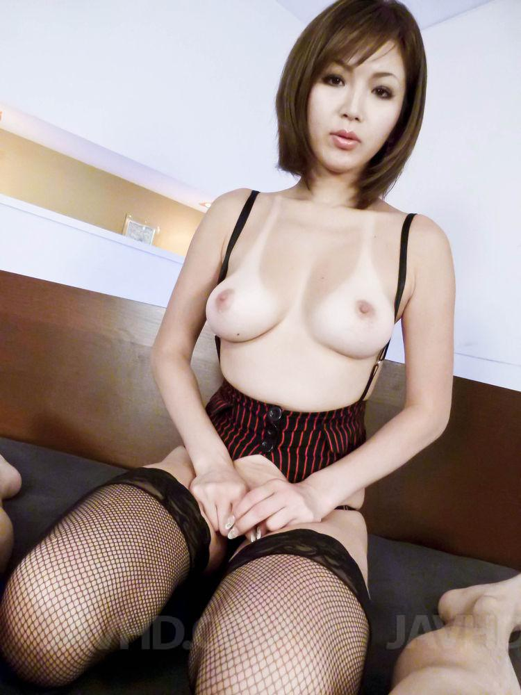 Mai kuroki horny mom deals young dick in her pussy 8