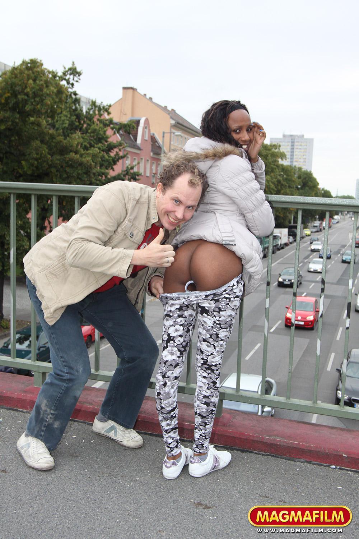 ebony fucked in public