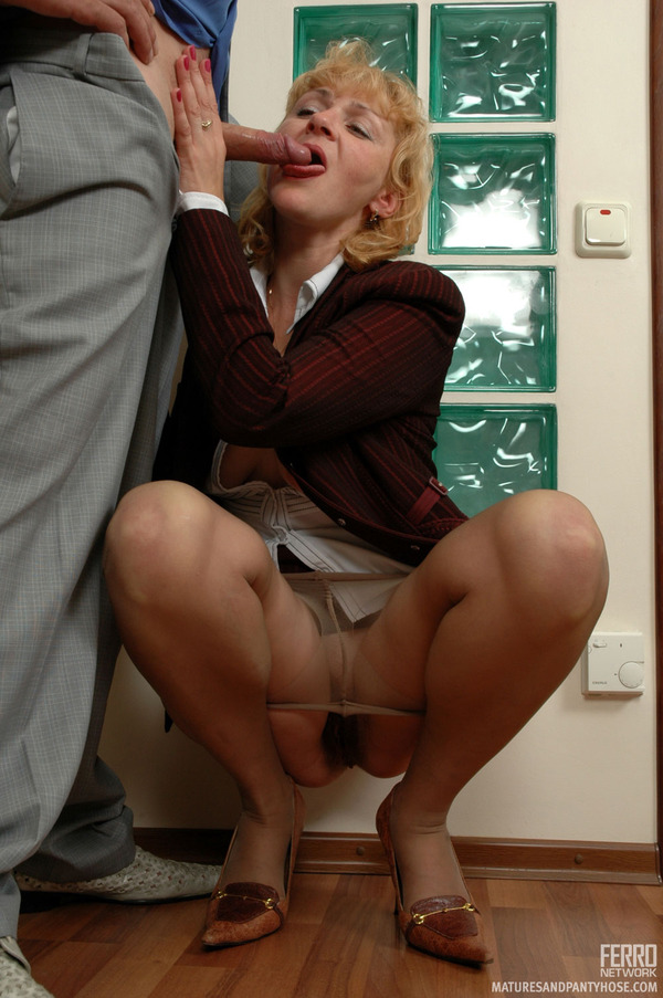 Sexy chick fucked in white stockings