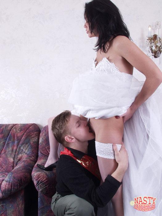 Bride gets fucked before wedding