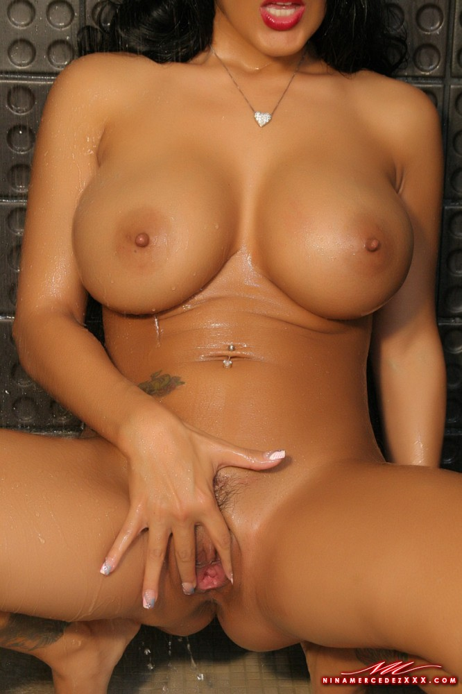 Latina girls naked in shower