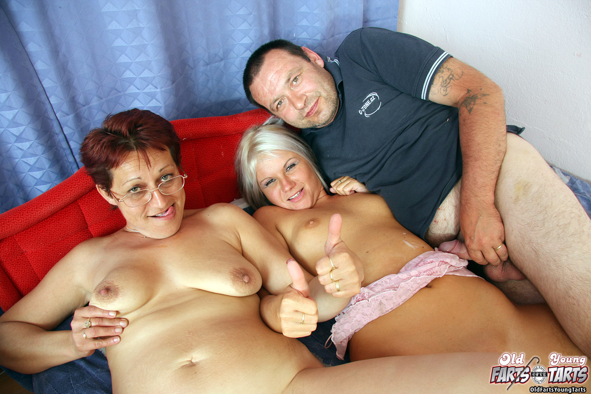 Old girl and young men sex
