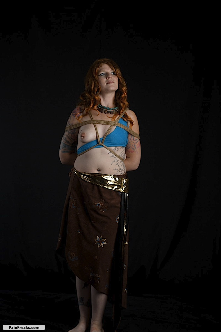 redhead bound and gagged in this gallery