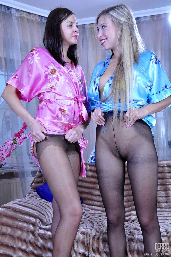 pretty nude girls bending over