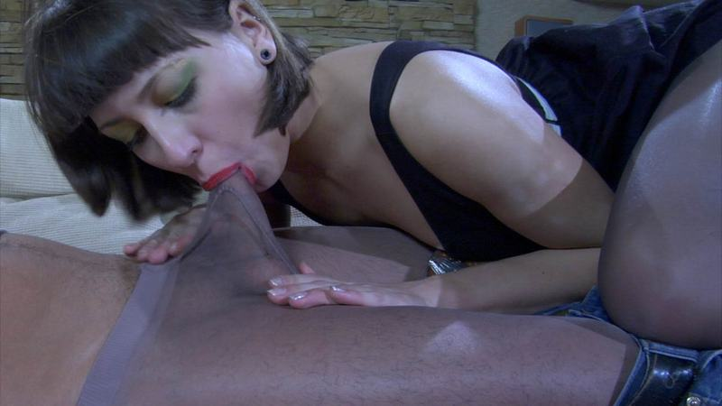 Blowjob and cum in pantyhose compilation