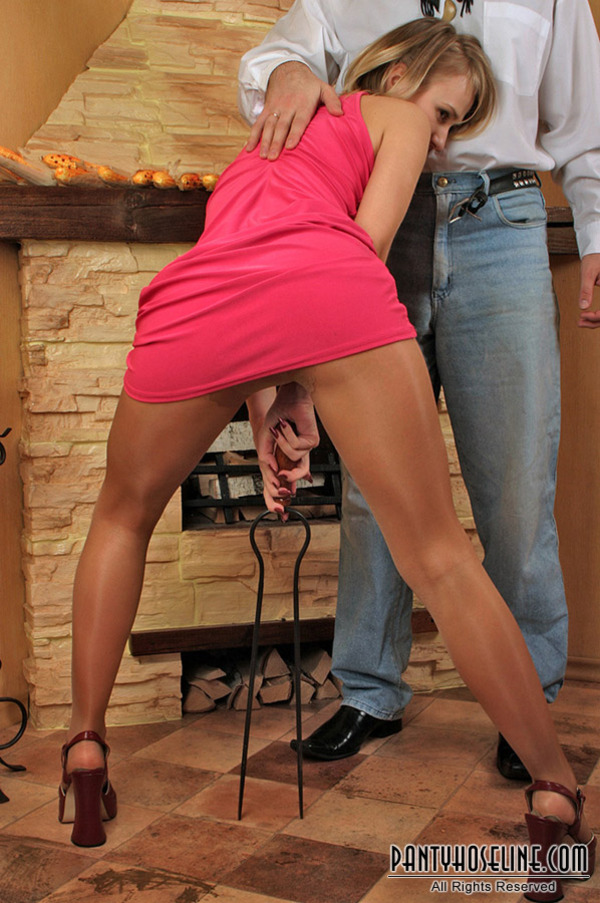 Порно фото в колготках телесных