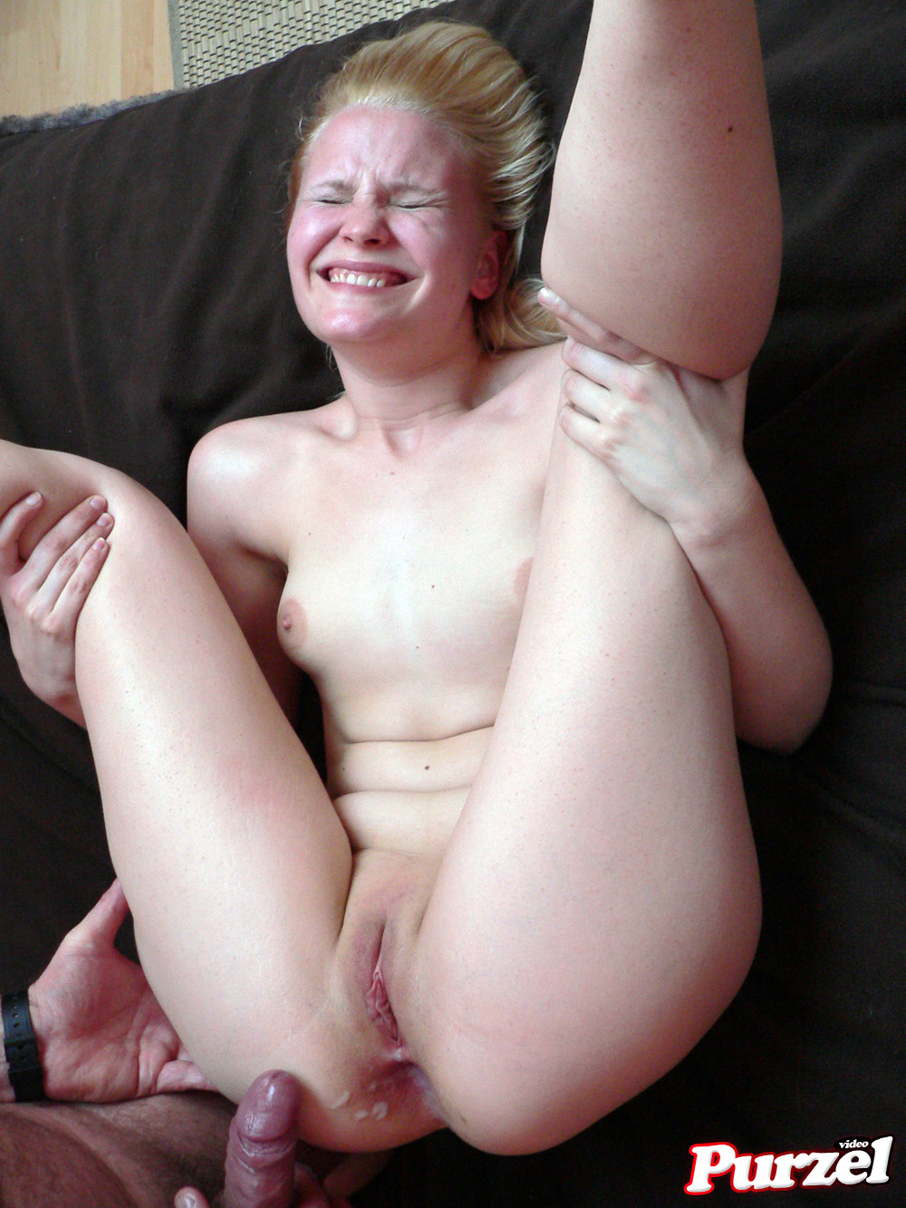 German girl first anal