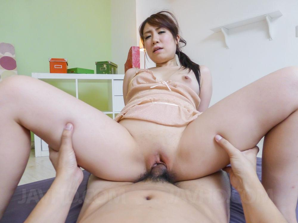 Aizawa ren sucks cock then enjoys it in her vagina - 3 part 2