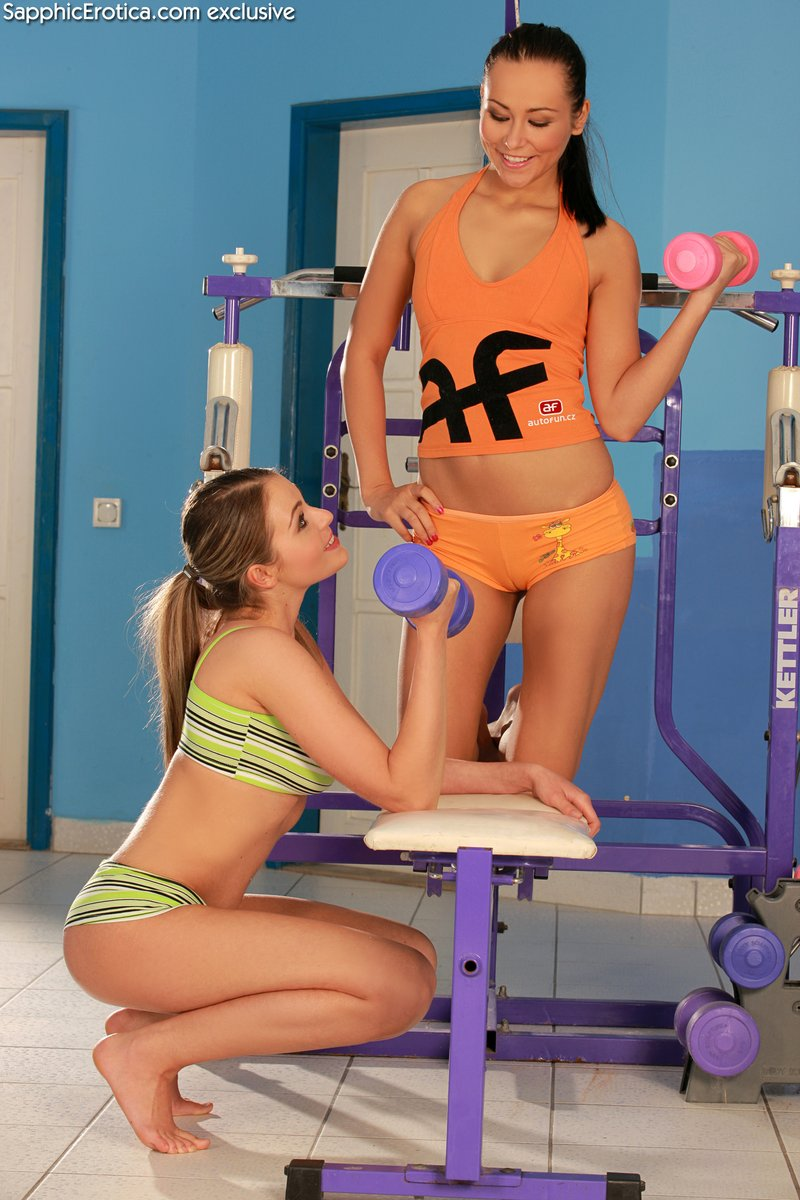 lesbian devin zara sizzling teens have sex in the gym nude gallery