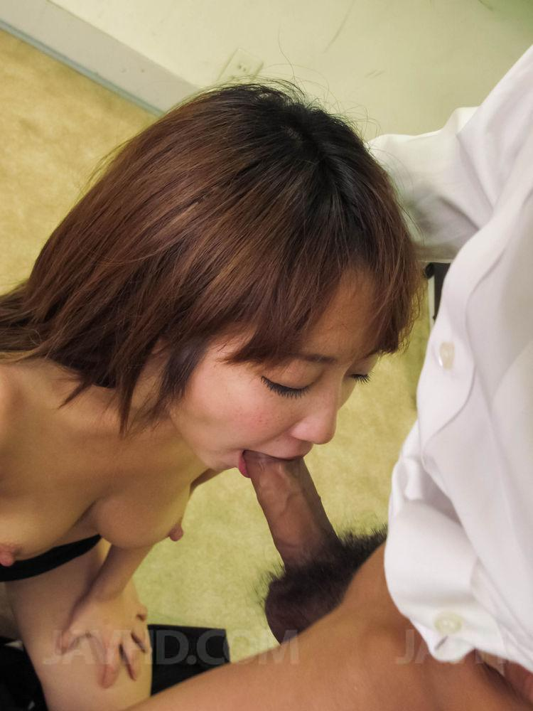 Akina hara sucks on several dicks in a series of sloppy oral 8