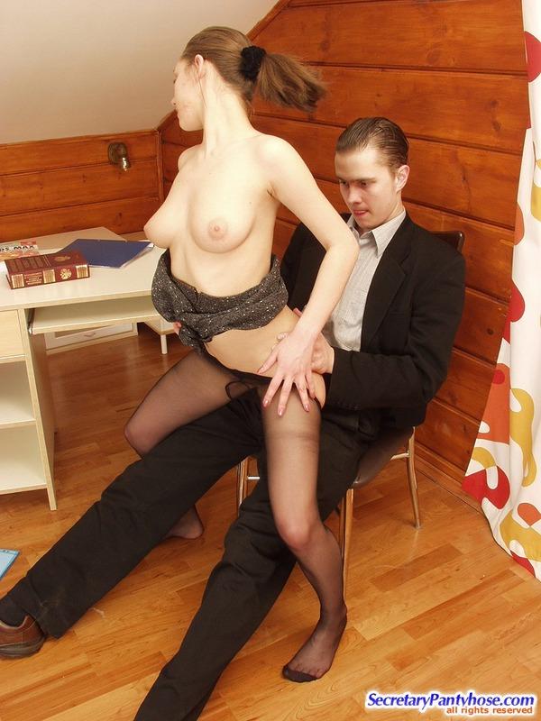 Free hq secretary pantyhose fuck leotard sex porn photo
