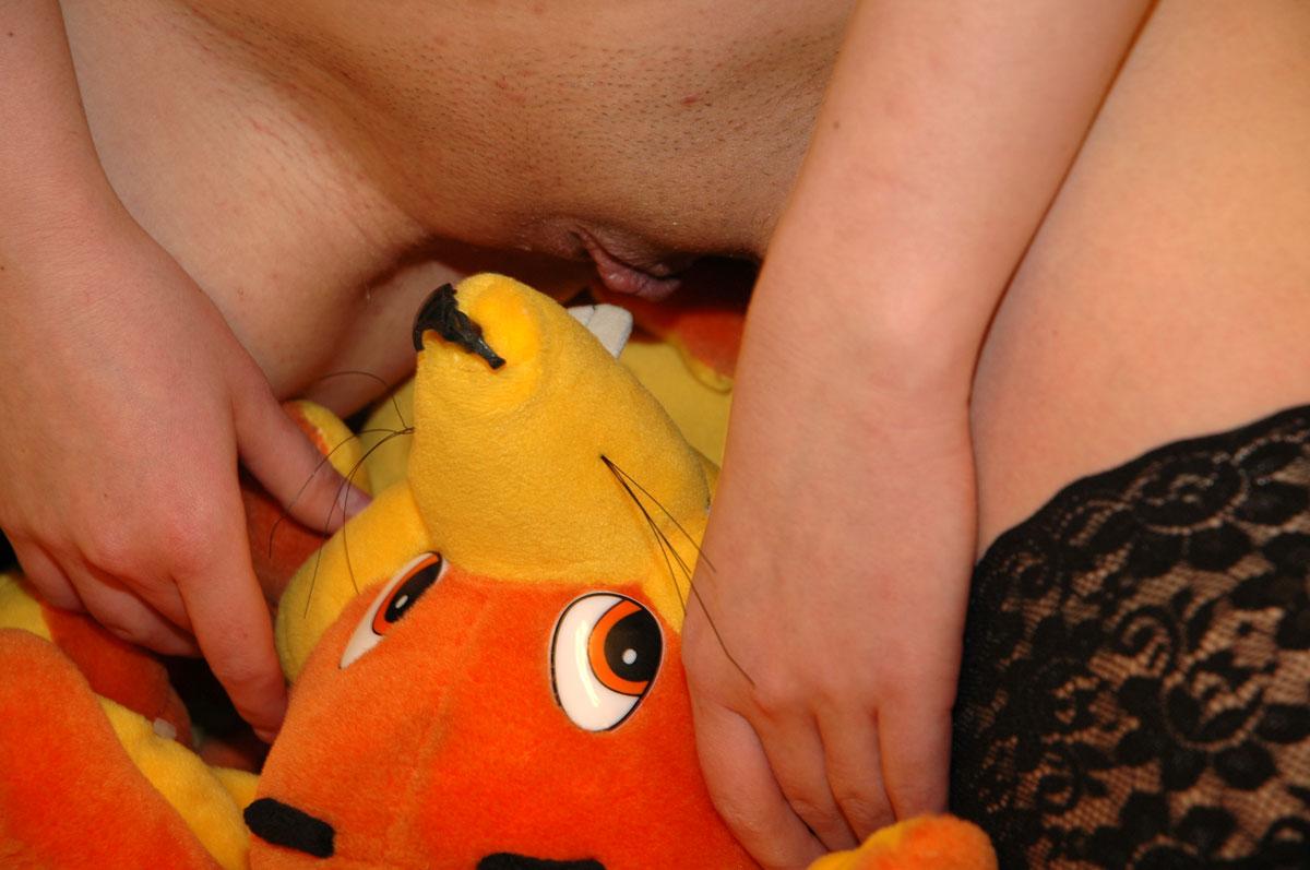 Girl rides teddy bear opinion