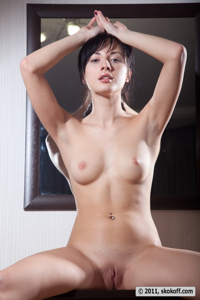 Young hot girls in mirror nude